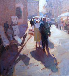 Artwork of Oil Painter Kim English Artist Gallery, Fine Art Gallery, Kim English, English Artists, Oil Painters, Traditional Paintings, Urban Landscape, Figure Painting, Figurative Art