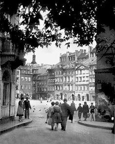 Warszawa.przedwojenna. Wejście na Rynek od strony Zapiecka.