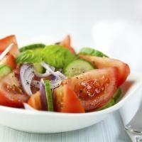 Cucumber, Tomato, and Zucchini Salad in True Lemon Balsamic Vinaigrette. #TrueLoveYourFood | TrueLemon.com