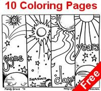 creation alphabet coloring pages - photo#1