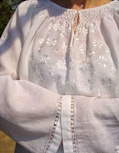 Imi cos singură o IE - Tutorial, cum croiesc Sewing Hacks, Smocking, Off Shoulder Blouse, Costumes, Embroidery, Traditional, Detail, Lace, White Blouses