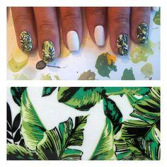 Banana Leaf nails