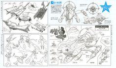 Space Dandy Design Sheet