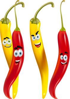 Légumes rigolos - Piments