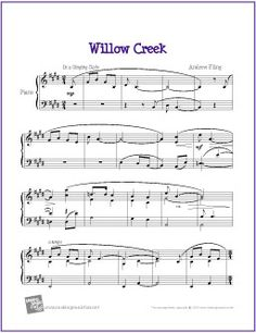 willow creek by andrew fling free sheet music for easy piano http