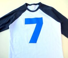 Hey, I found this really awesome Etsy listing at https://www.etsy.com/listing/186088670/royal-7-on-navy-and-white-raglan