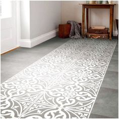 A traditional looking grey patterned feature floor tile designed with a subtle s. - A traditional looking grey patterned feature floor tile designed with a subtle s… - Grey Floor Tiles, Ceramic Floor Tiles, Bathroom Floor Tiles, Wall And Floor Tiles, Ceramic Flooring, Gray Floor, Hall Bathroom, Porcelain Tiles, Floor Mats
