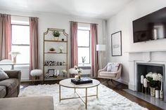 Living Room Tour - Living Room Transformation - NYC Apartment Tour