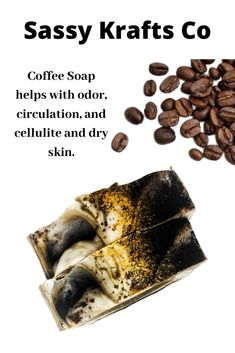 This bar is great to soften rough spots, control odor, and help with circulation and cellulite. Promote healthy skin with caffeine.   The ground coffee bean and black walnut shell serve as a strong exfoliation. Use this on rough patches.   Free Shipping on all US orders. Turmeric Soap, Tea Tree Soap, Acne Soap, Ground Coffee Beans, Coffee Soap, Exfoliating Soap, Charcoal Soap, Walnut Shell, Cookies Policy