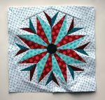 final paper piecing star  block