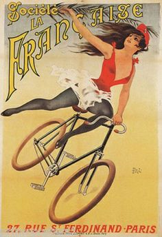24x32 Franco American Bicycle Co 1890s Vintage Bicycle Poster Falcon