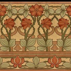 Looking for good authentic arts and crafts designs to make custom fabric for a bed runner... This one is a good start.