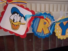 Donald Duck Name Banner by TweetMemories on Etsy