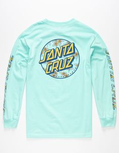 Floral Santa Cruz Dot at the left chest and back. Logos screened down the cuffed long sleeves. Summer Outfits, Casual Outfits, Men Casual, Santa Cruz Tshirt, T Shirt Image, Vintage Outfits, Vintage Clothing, Really Cool Stuff, Shirt Designs