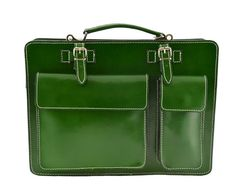 Leather Briefcase  Europa  Tuscan Leather by DreamLeatherBags