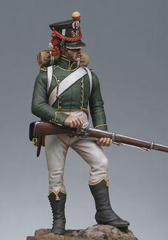 Fiancheggiatore granatiere del rgt. Fiancheggiatore granatiere della guardia imperiale francese, 1813