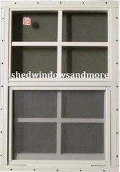 Shed Window 12 x 18 White Flush Safety Glass, Playhouse, Treehouse, chicken coop Playhouse Windows, Shed Windows, Garden Playhouse, Playhouse Outdoor, Chicken Shed, Chicken Coops, Window Accessories, Safety Glass, Shed Storage