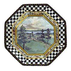"MacKenzie-Childs MacLachlan Dinner Plate item # 0141112401-MC Dimensions: 11.75"" dia."