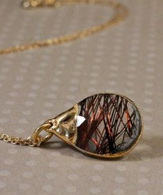 Copper Rutilated Quartz Necklace. Got a similar one of these on last NC trip to mountains, with Mom!