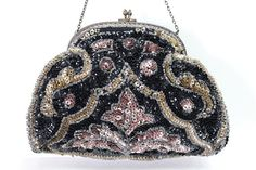 Antique 1900's Art Deco Micro Beaded Sequins by KMalinkaVintage, $280.00