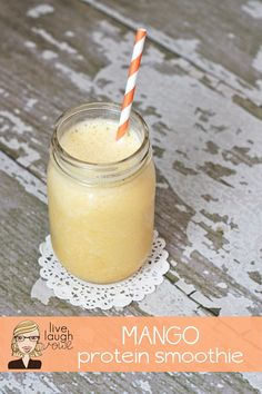 Mango Protein Smoothie with livelaughrowe.com