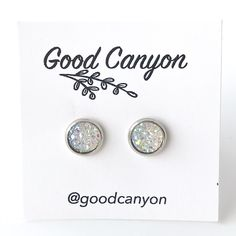 Small White Druzy Earrings – Good Canyon