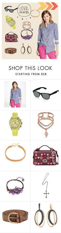 """love always yous style"" by ramakumari ❤ liked on Polyvore featuring Brooks Brothers, Toy Watch, Diane Kordas, Kenneth Jay Lane, Fendi, Antica Murrina, Manuel Bozzi, Erika Cavallini Semi-Couture, ANTONINI and vintage"