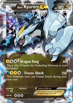 Fanpromo 02 Black Kyurem by Xintetsu on DeviantArt Pokemon Stories, Black Dragon, Pokemon Cards, Knock Knock, Deviantart, Pokemon Images, Letters