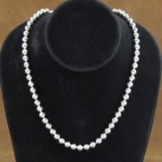 Sterling Silver Pearls  Simply Stunning...Hollow Bead Necklace 5mm