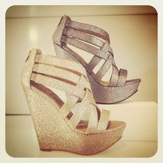 Kate & Mel glitter criss cross detail platforms @townshoes Find them here: http://ts.townshoes.ca/store/townShoes/en/