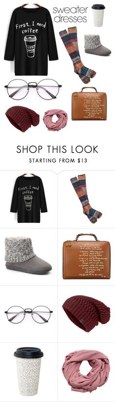 """Warm & Comfy"" by charity-bliss-king ❤ liked on Polyvore featuring Free People, SONOMA Goods for Life, Tory Burch, MANGO and sweaterdresses"