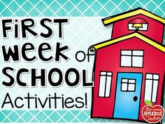 Tons of great activities for the first week of school.