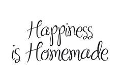 - Nieuw - Happiness is Homemade, 80x36cm, vanaf 31,90 €