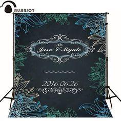 Allenjoy photographic background Wedding love leaf blackboard kids vinyl princess fabric wallpaper