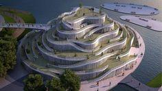 Ciudad de la Bicicleta en China - Noticias de Arquitectura - Buscador de Arquitectura. La sala polivalente