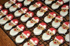 NutterButter Christmas Cookies #Snowmen #Reindeer #Santa & Homemade Nutter Butter Recipe