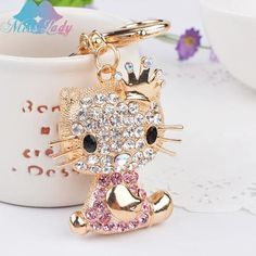 Crown Hello Kitty Keychain
