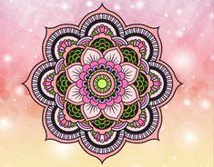 Afbeeldingsresultaat voor mandalas coloreadas a mano faciles Mandala Art, Mandala Drawing, Mandala Pattern, Mandala Tattoo, Mandala Wallpaper, Coloring Books, Coloring Pages, Desenho Tattoo, Zen Art