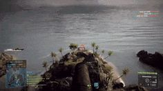 Guy waits for an attack-boat to stop to shoot a cannonball at it.