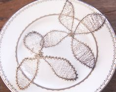 Antique Wire Flower Ornaments  Tarnished by smilemercantile, $27.50