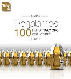 Club Taky regala 100 de sus roll-on depilatorios Taky Oro entre todos los que se inscriban y participen en esta promoción.  Promoción válida para España hasta el 20/06/2013.  Más información aquí: http://www.baratuni.es/2013/06/muestras-gratis-club-taky-roll-on-depilatorio-taky-oro.html  #muestrasgratis #muestras #muestrasgratuitas #taky #clubtaky #promociones #depilación #depilacion #takyoro #baratuni