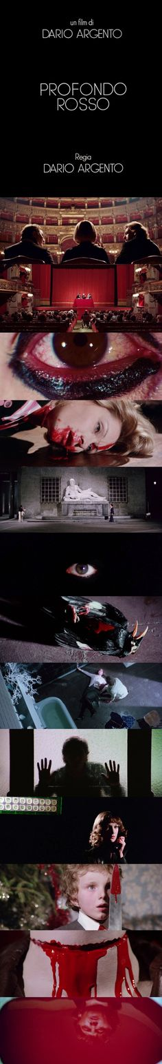 Deep Red Directed by Dario Argento Funny Movies List, Funny Movie Clips, Funny Movie Scenes, Romantic Movie Scenes, Movie Memes, Movie Gifs, Kid Movies, Romantic Movies, Movies To Watch