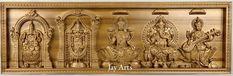 Hindu gods and goddess - Ash wood high relief panel Pooja Room Door Design, Wood Front Doors, Puja Room, Hindu Deities, Stylish Girl Images, Amazing Ideas, Gods And Goddesses, Wood Paneling, Traditional Art