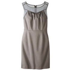 Target Mobile Site - Mossimo® Women's Ponte Dress w/Sheer Front - Assorted Colors
