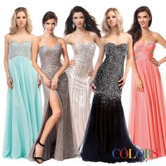 Which strapless is for you?! COLORS DRESS #prom #prom2015