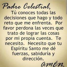 Amen, que se haga tu voluntad mi Señor, mi Padre Amado