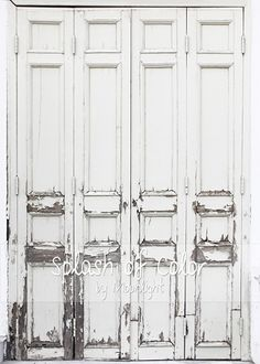 Large White Wood Doors 5'x 7'