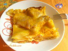 Lasagne zucca, speck e scamorza