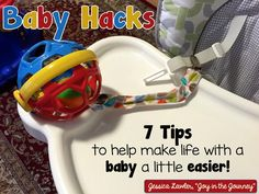 "Recently had a baby? Check out these 7 ""Baby Hacks"" - or tips for making life with a baby easier. I never would have thought of #6 - GENIUS!"