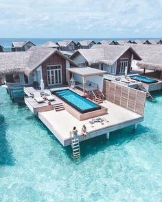Fairmont Villas in the Maldives - Travel - .- Fairmont Villen auf den Malediven – Travel – Fairmont Villas in Maldives – Travel – - Vacation Places, Vacation Destinations, Dream Vacations, Vacation Spots, Beach Vacations, Vacation Villas, Aloita Resort, Overwater Bungalows, Beautiful Places To Travel